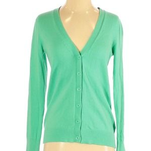 Gap Outlet solid green button up cardigan xs